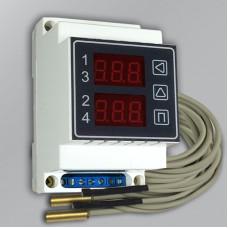 Терморегулятор ИРТ-4К четырехканальный от 1 до 4-х датчиков t